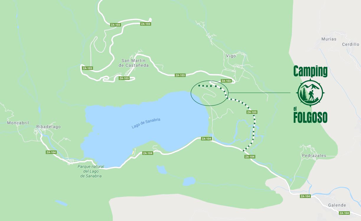 Mapa Camping el Folgoso