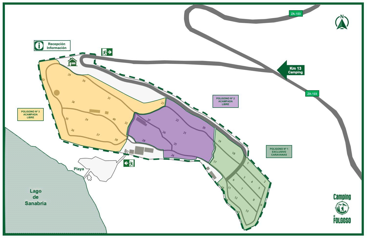 Camping Folgoso Plano Sectores